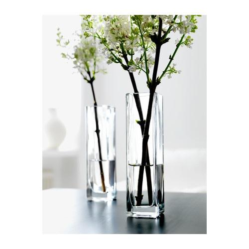 Rektangel vase clear glass 21 cm ikea - Vase cylindrique ikea ...