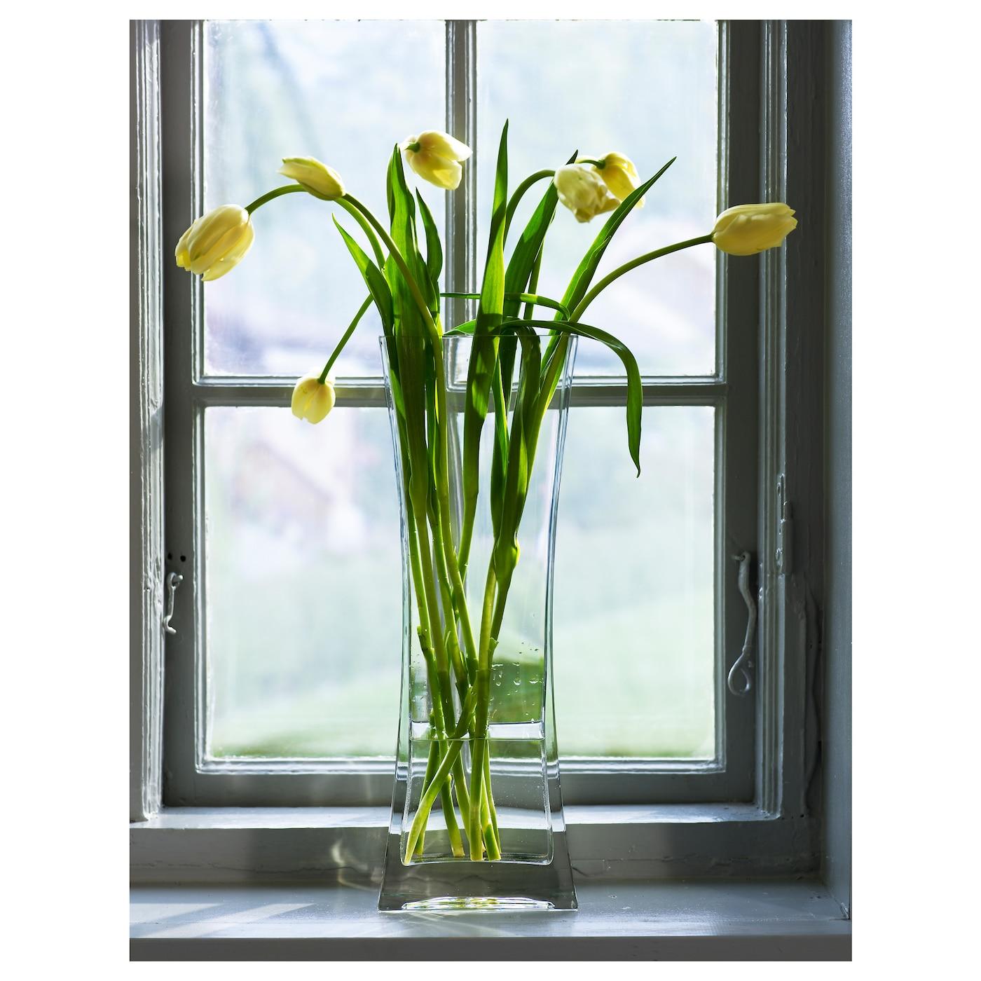 rektangel vase clear glass 45 cm ikea. Black Bedroom Furniture Sets. Home Design Ideas