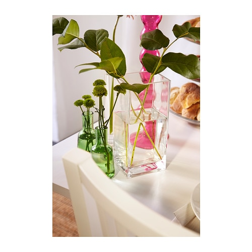 rektangel vase clear glass 22 cm ikea. Black Bedroom Furniture Sets. Home Design Ideas