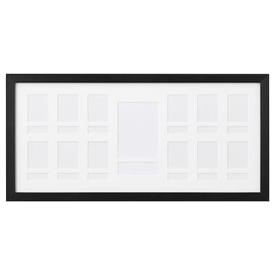 RIBBA Frame for 13 pictures, black