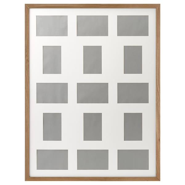 RIBBA Frame for 15 pictures, oak effect, 60x80 cm