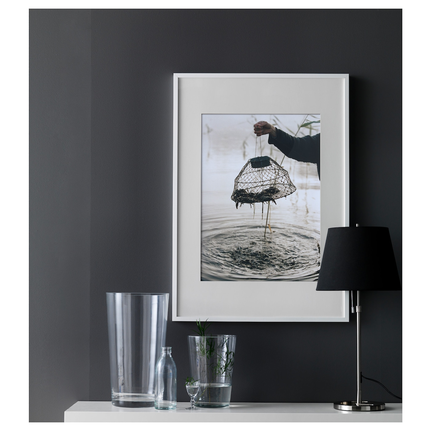 Ribba frame white 50x70 cm ikea for Large a frame