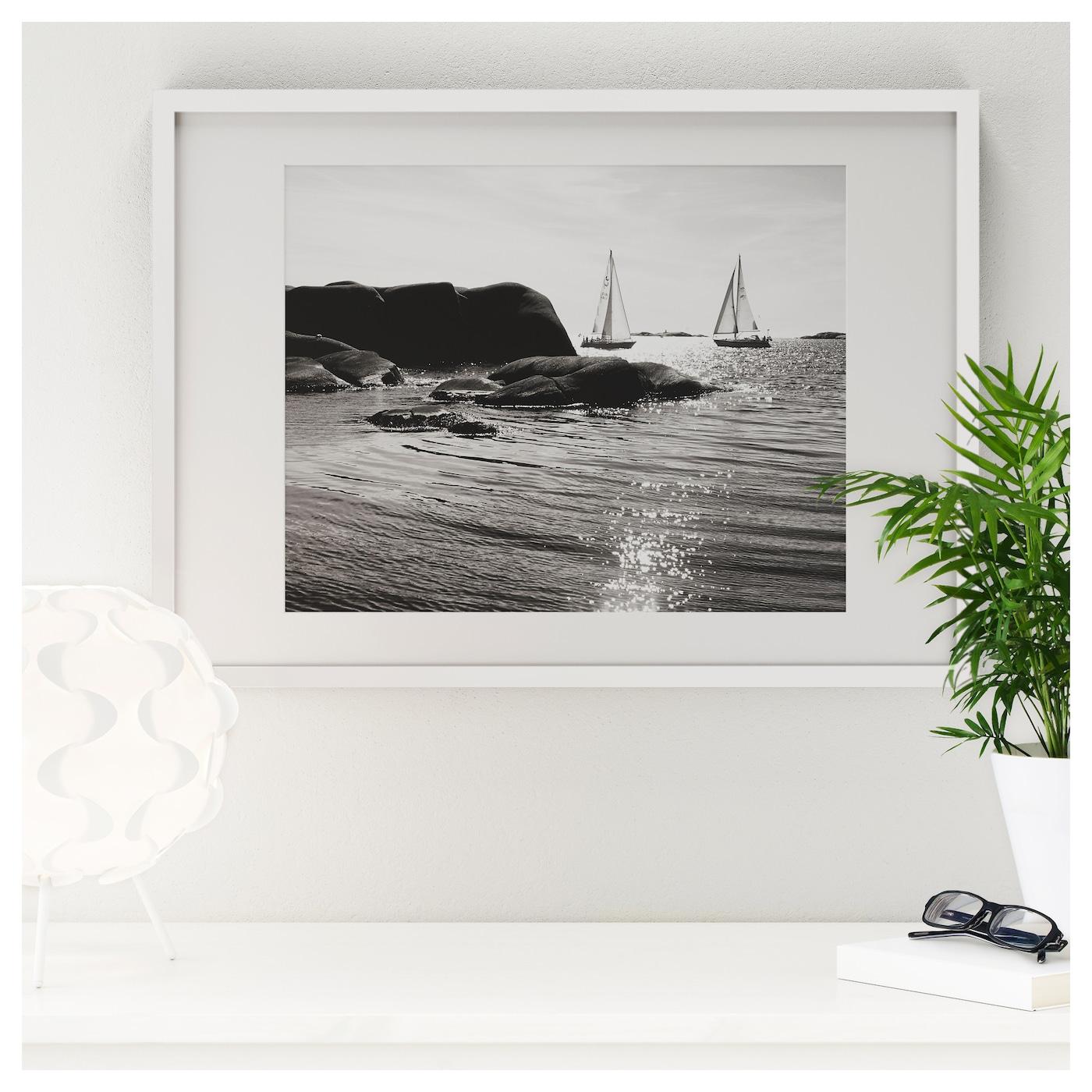 Ribba frame white 50 x 70 cm ikea for Cornice ribba ikea