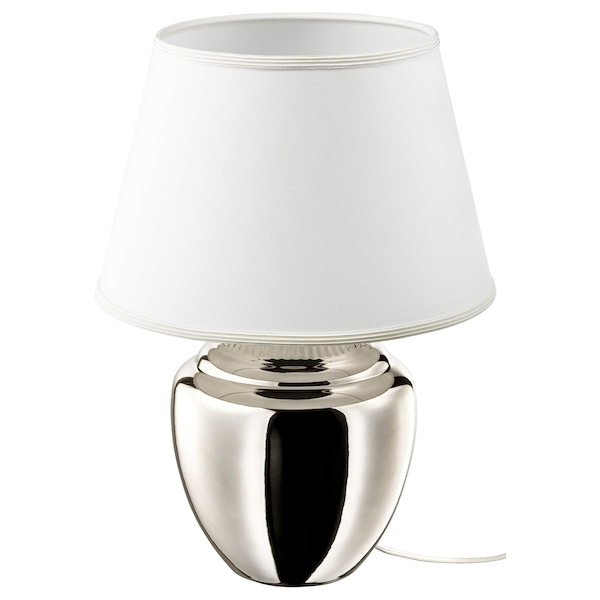 RICKARUM silver colour, Table lamp, 47