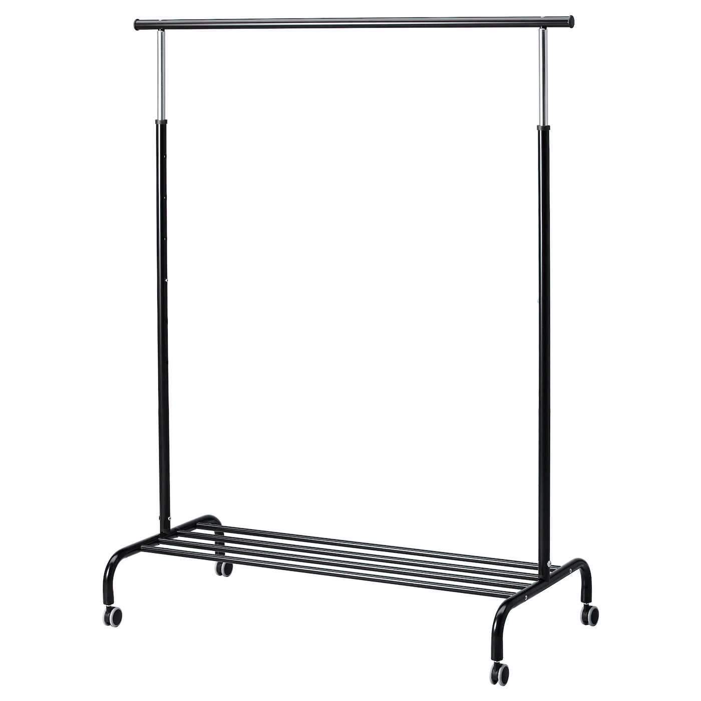 rigga clothes rack black ikea