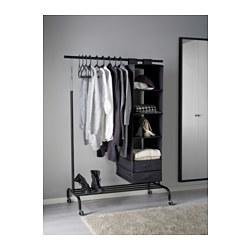 rigga clothes rack black ikea. Black Bedroom Furniture Sets. Home Design Ideas