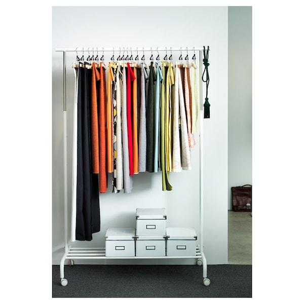 RIGGA clothes rack white 111 cm 51 cm 126 cm 175 cm 35 kg
