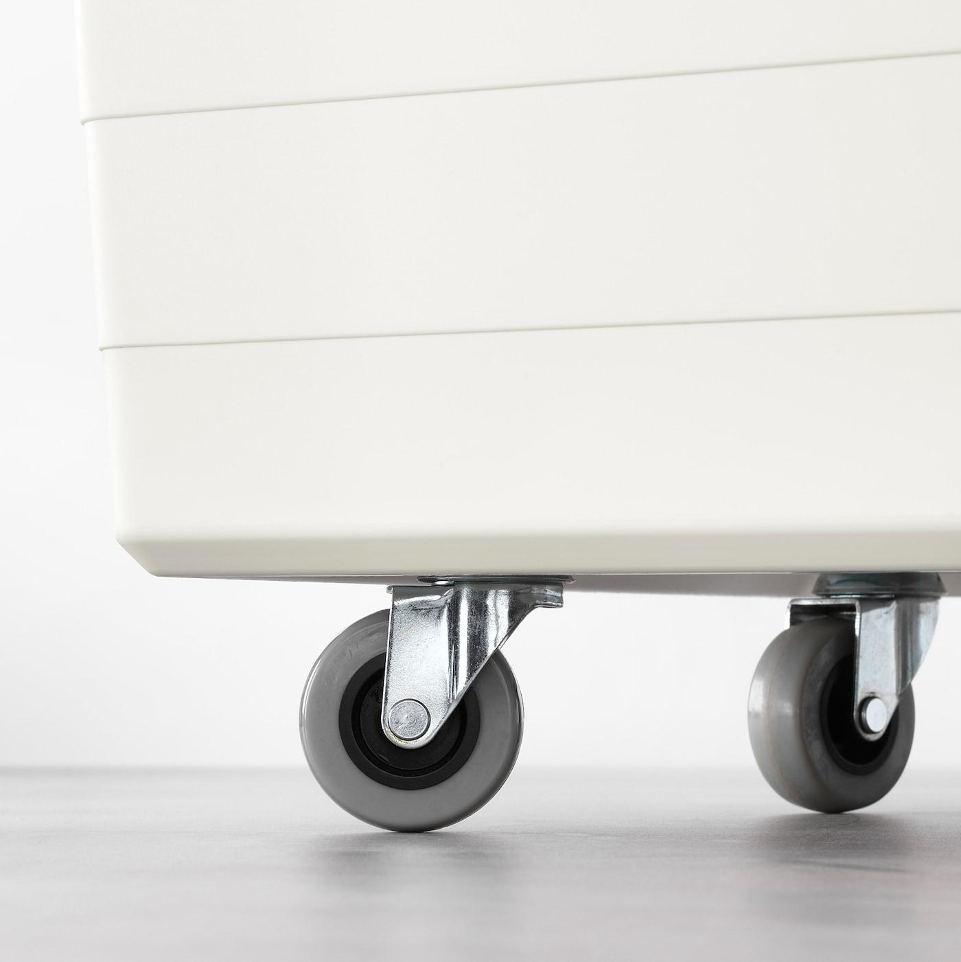 4x SMALL SOCKET CASTOR WHEELS 40mm Black Furniture Cabinet Dresser Easy Fitting