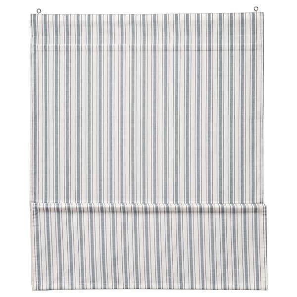 RINGBLOMMA Roman blind, white/blue, 140x160 cm