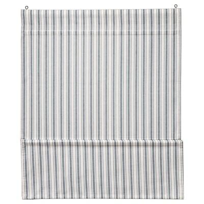 RINGBLOMMA Roman blind, white/blue, 100x160 cm