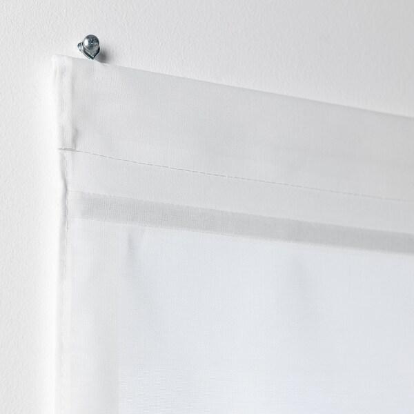RINGBLOMMA Roman blind, white, 120x160 cm