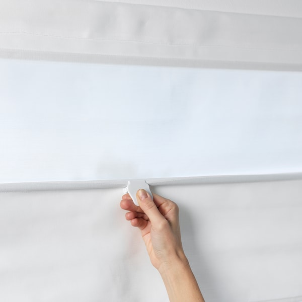 RINGBLOMMA Roman blind, white, 60x160 cm