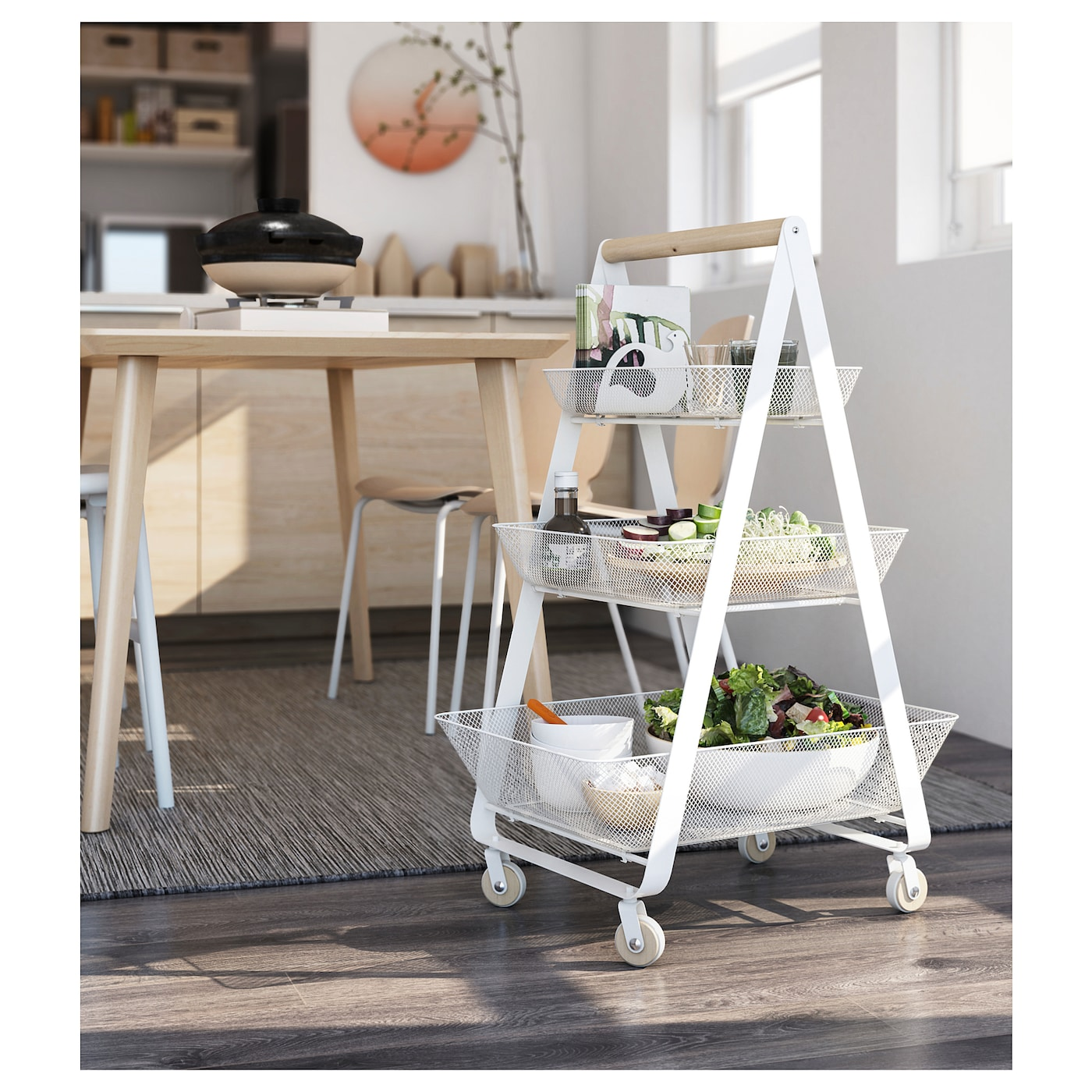 Ikea Risatorp Serving Trolley In White