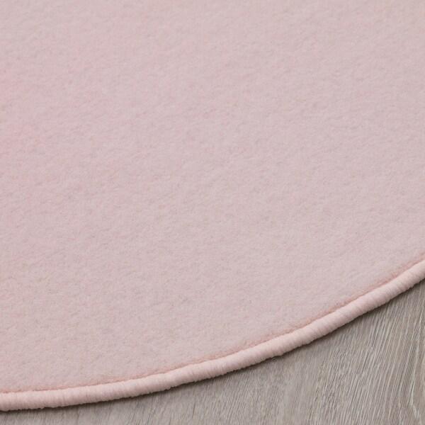 RISGÅRDE Rug, low pile, pink, 70 cm