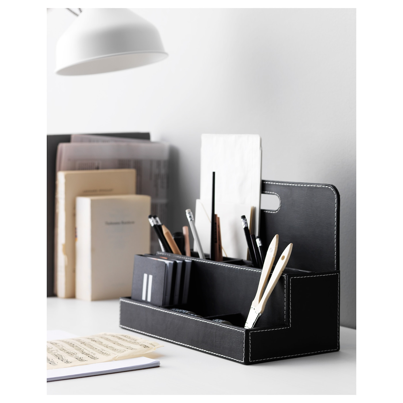 desk paper cm products tjena small organisers art en media organiser storage ikea white gb