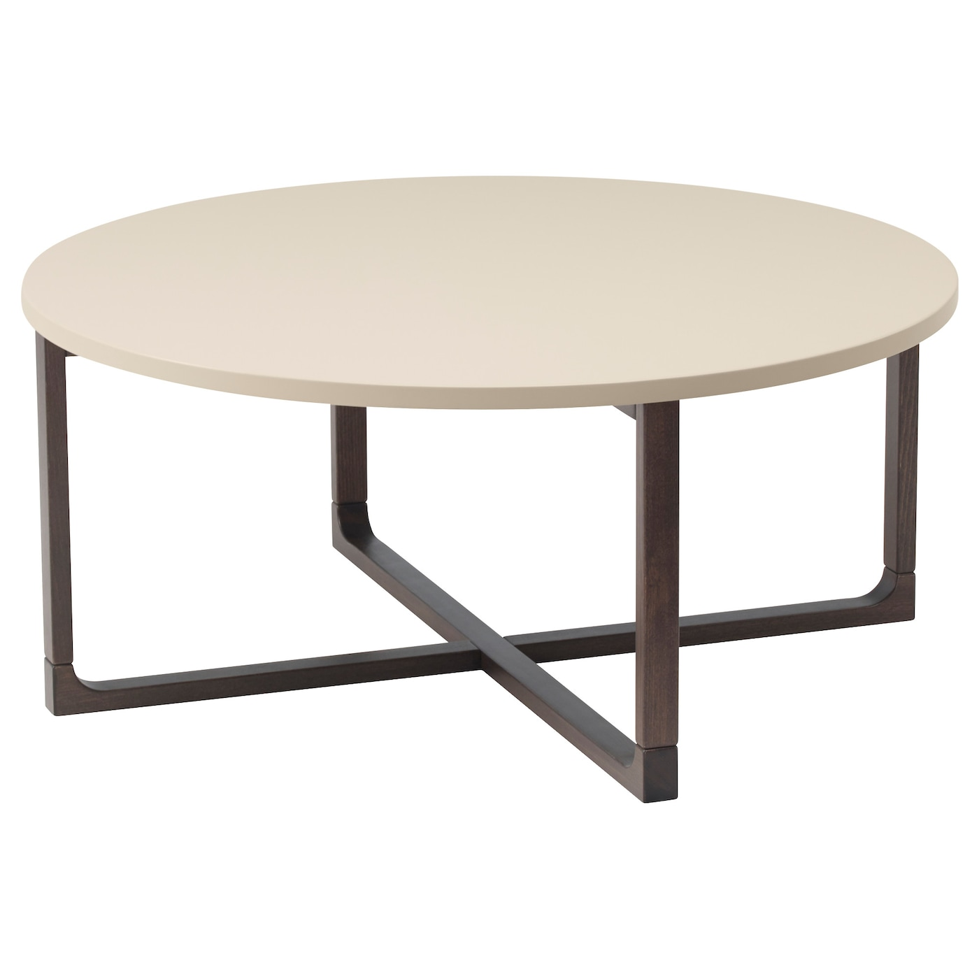 IKEA RISSNA coffee table The high-gloss surfaces reflect light and give a vibrant look.