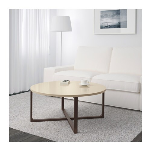 Rissna coffee table beige 90 cm ikea - Table basse laquee beige ...