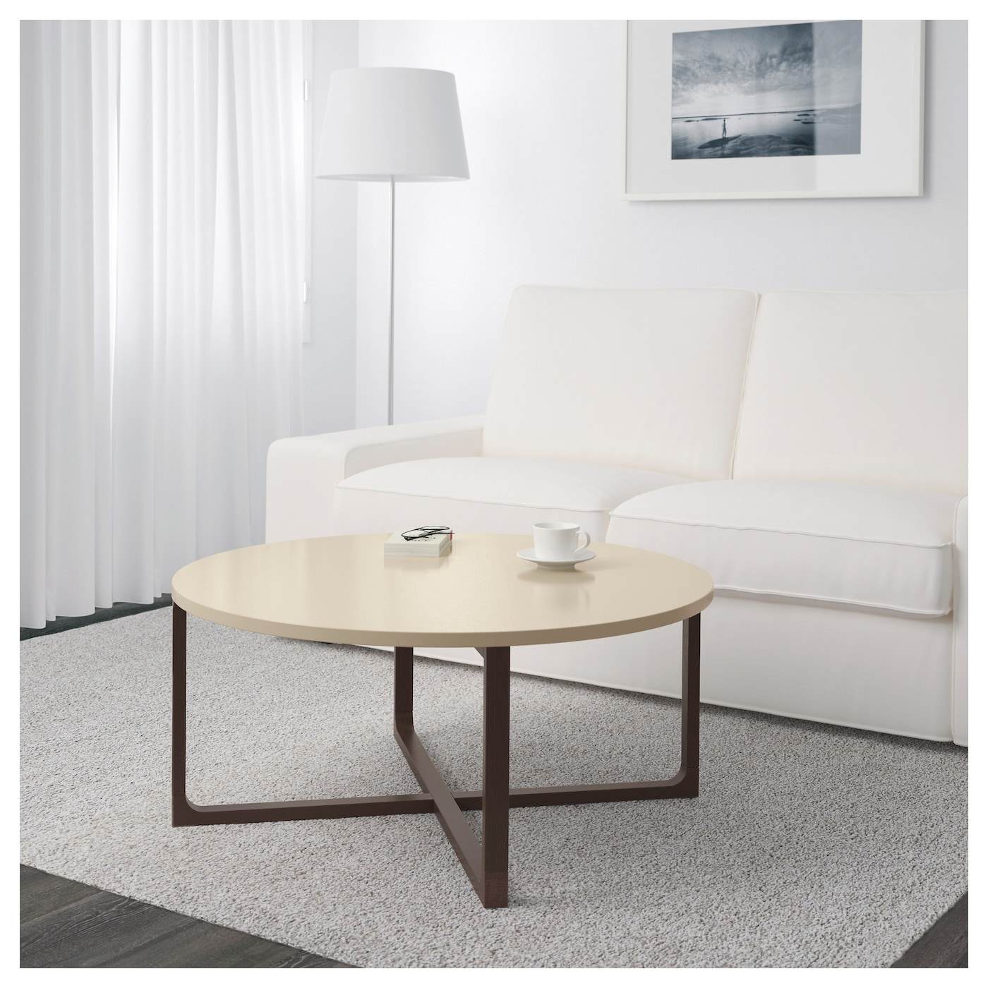 Beige Trunk Coffee Table: RISSNA Coffee Table Beige 90 Cm