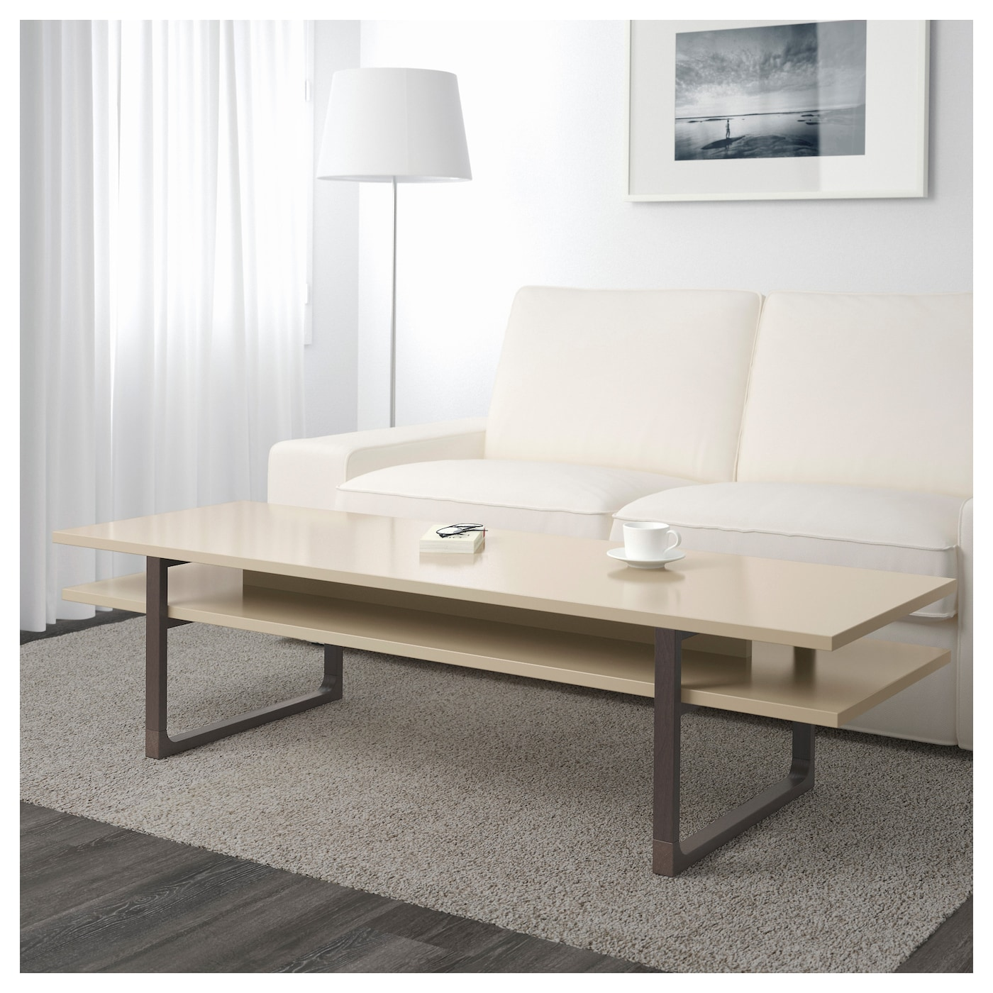 rissna coffee table beige 160x55 cm ikea. Black Bedroom Furniture Sets. Home Design Ideas