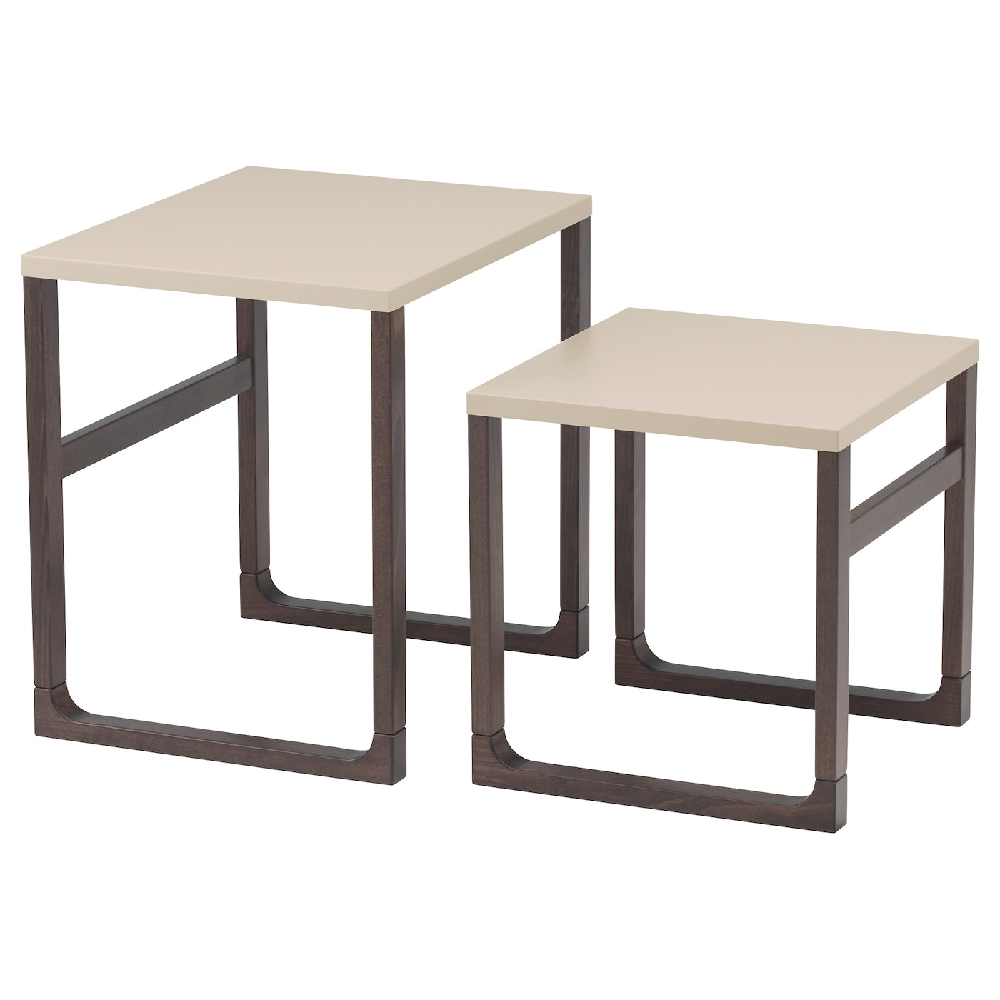 Rissna nest of tables set of 2 beige ikea for Set de table ikea