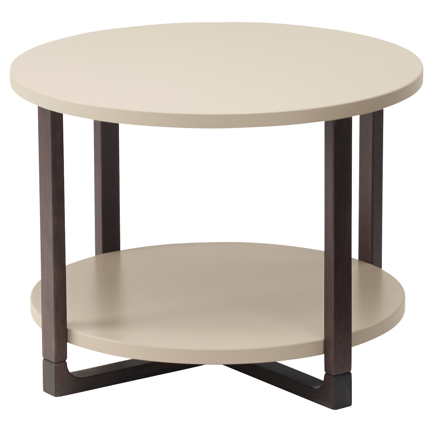Rissna side table beige 60 cm ikea - Petite table basse ronde ...