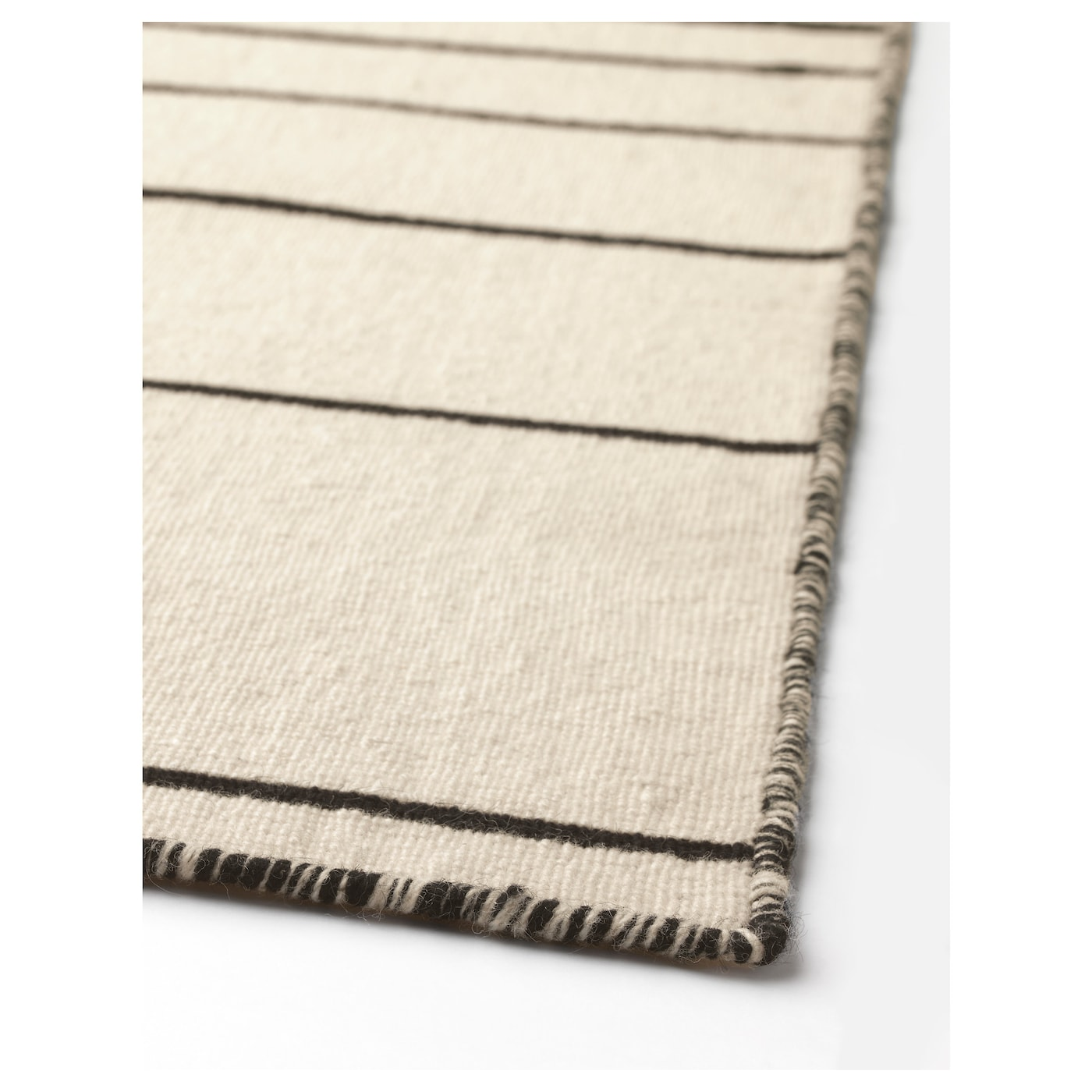 ristinge rug flatwoven handmade off white black 200x300 cm ikea. Black Bedroom Furniture Sets. Home Design Ideas