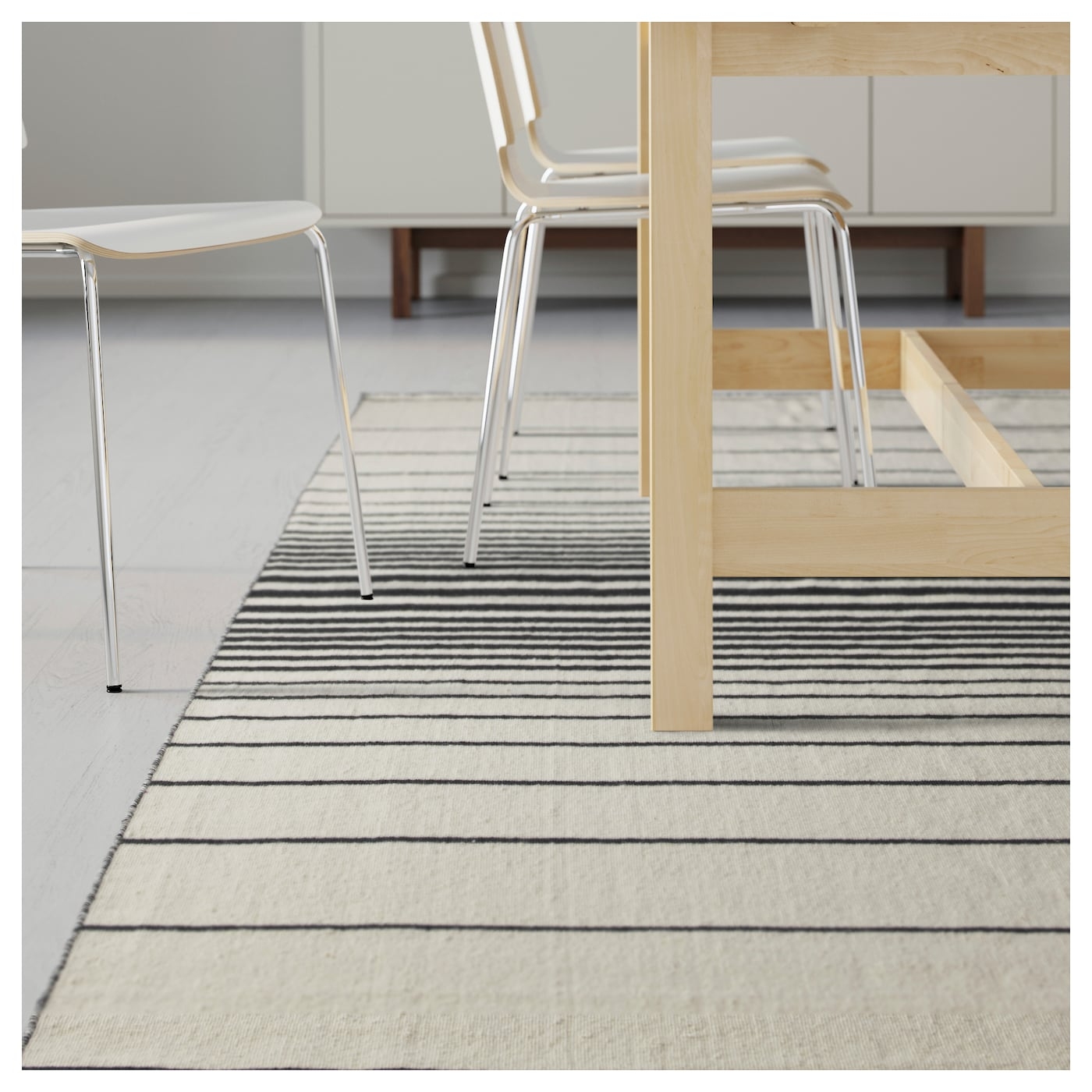 ristinge rug flatwoven handmade off white black 200x300 cm ikea. Black Bedroom Furniture Sets. Home Design Ideas