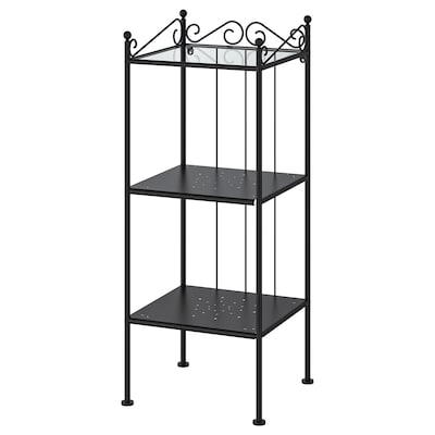 RÖNNSKÄR Shelving unit, black, 42x103 cm