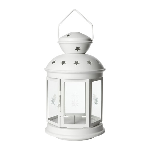 ROTERA Lantern for block candle , white in/outdoor white Height: 38 cm
