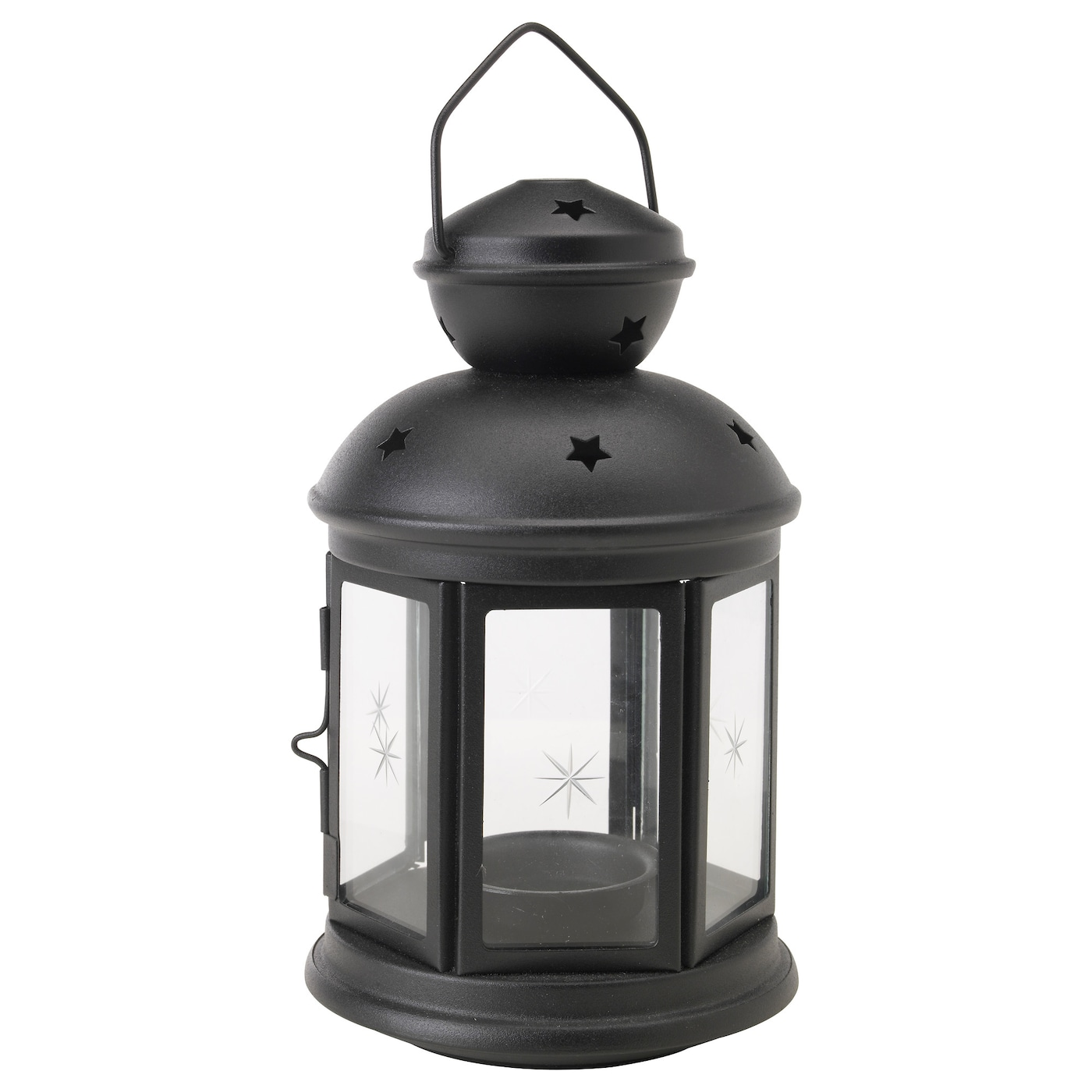 rotera lantern for tealight in outdoor black 21 cm ikea