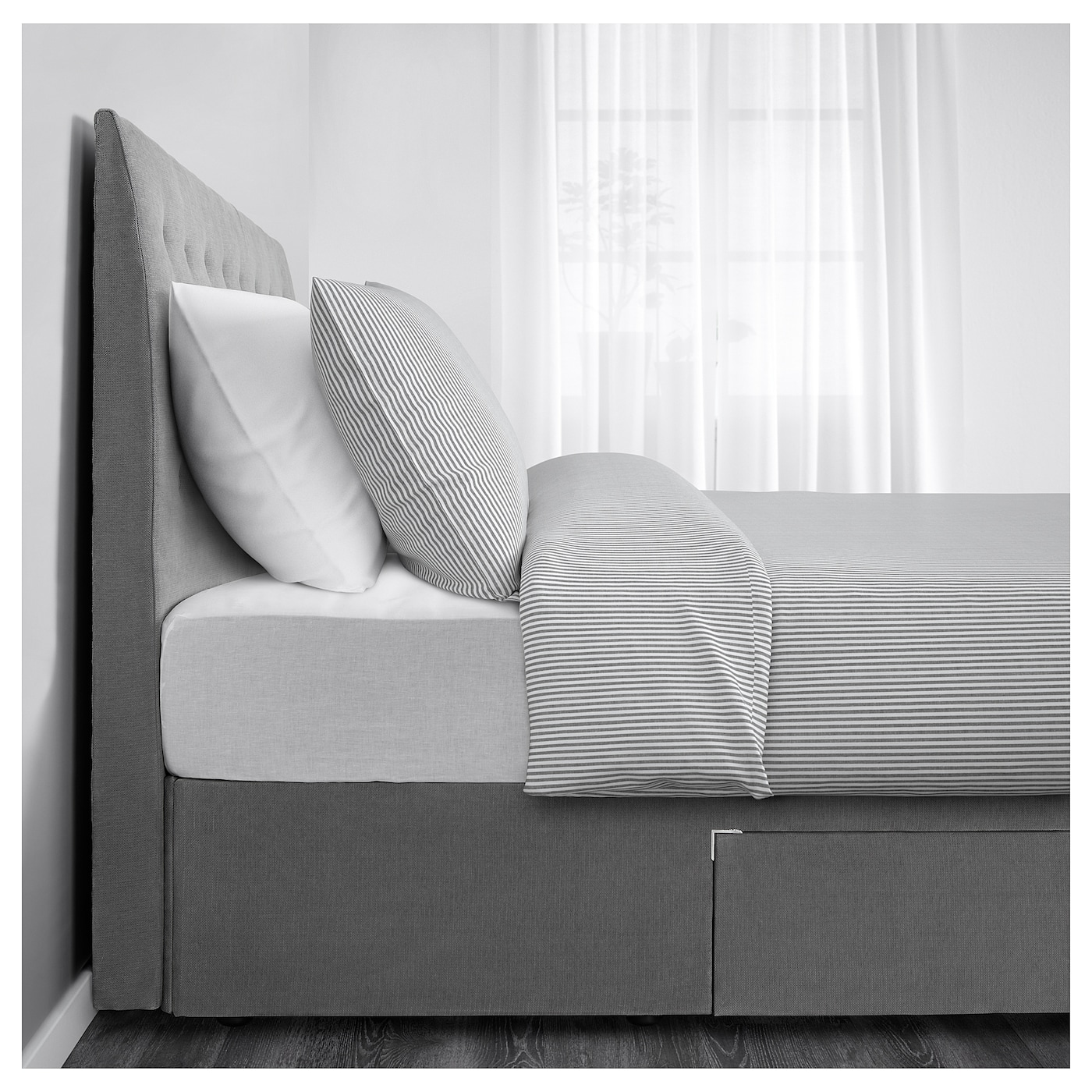 Rugsund divan bed with 2 drawers ikea for 2 drawer double divan bed