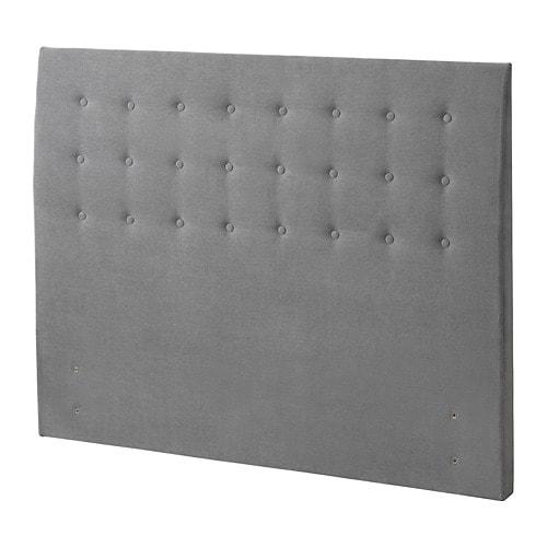 rugsund headboard button tallmyra grey standard king ikea. Black Bedroom Furniture Sets. Home Design Ideas