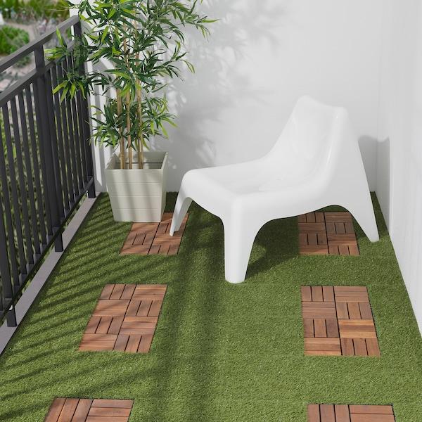 RUNNEN floor decking, outdoor artificial grass 0.81 m² 30 cm 30 cm 2 cm 0.09 m² 9 pack