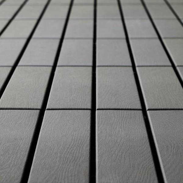 RUNNEN floor decking, outdoor grey 0.81 m² 30 cm 30 cm 2 cm 0.09 m² 9 pack