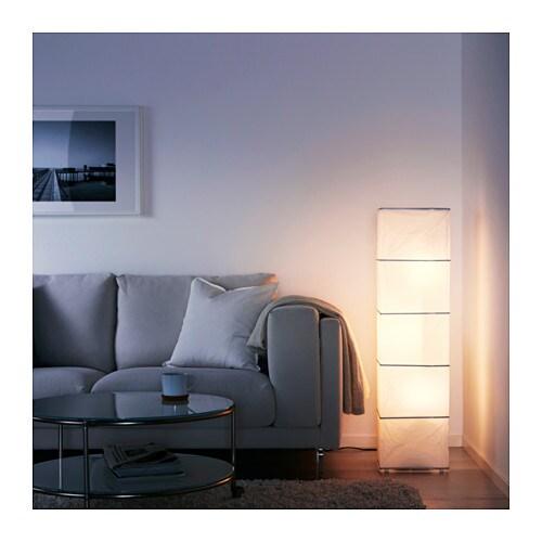 Rutbo Floor Lamp Rectangular White 114 Cm Ikea