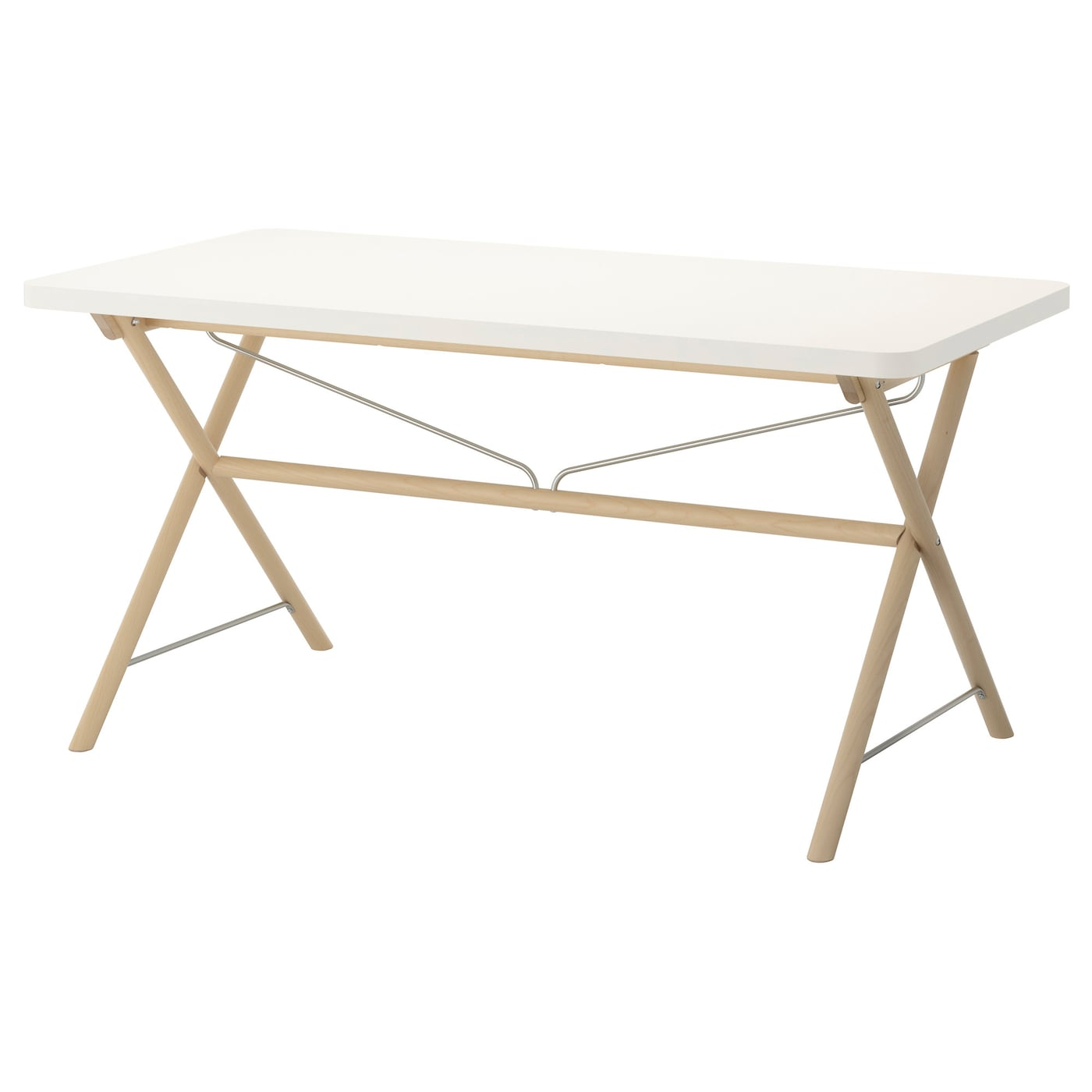 Rydeb ck table white dalshult birch 150x78 cm ikea for Table 4 personnes ikea