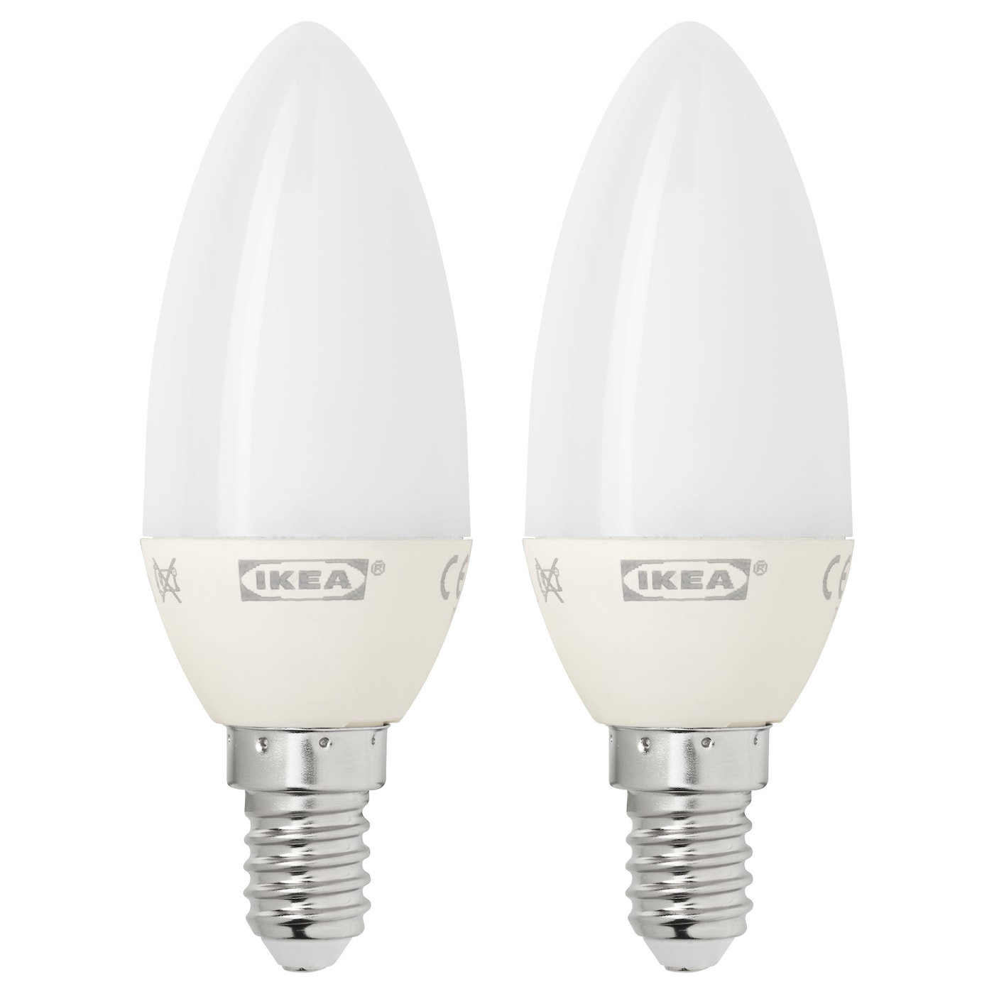 ryet led bulb e14 200 lumen chandelier opal white 2 pack ikea. Black Bedroom Furniture Sets. Home Design Ideas