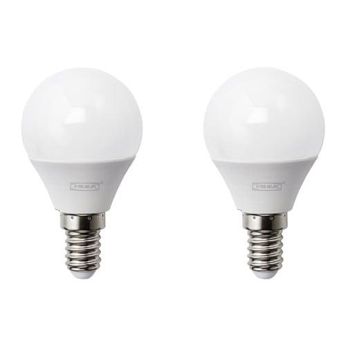 RYET LED bulb E14 200 lumen Globe opal white  IKEA -> Led Lampe Lumen