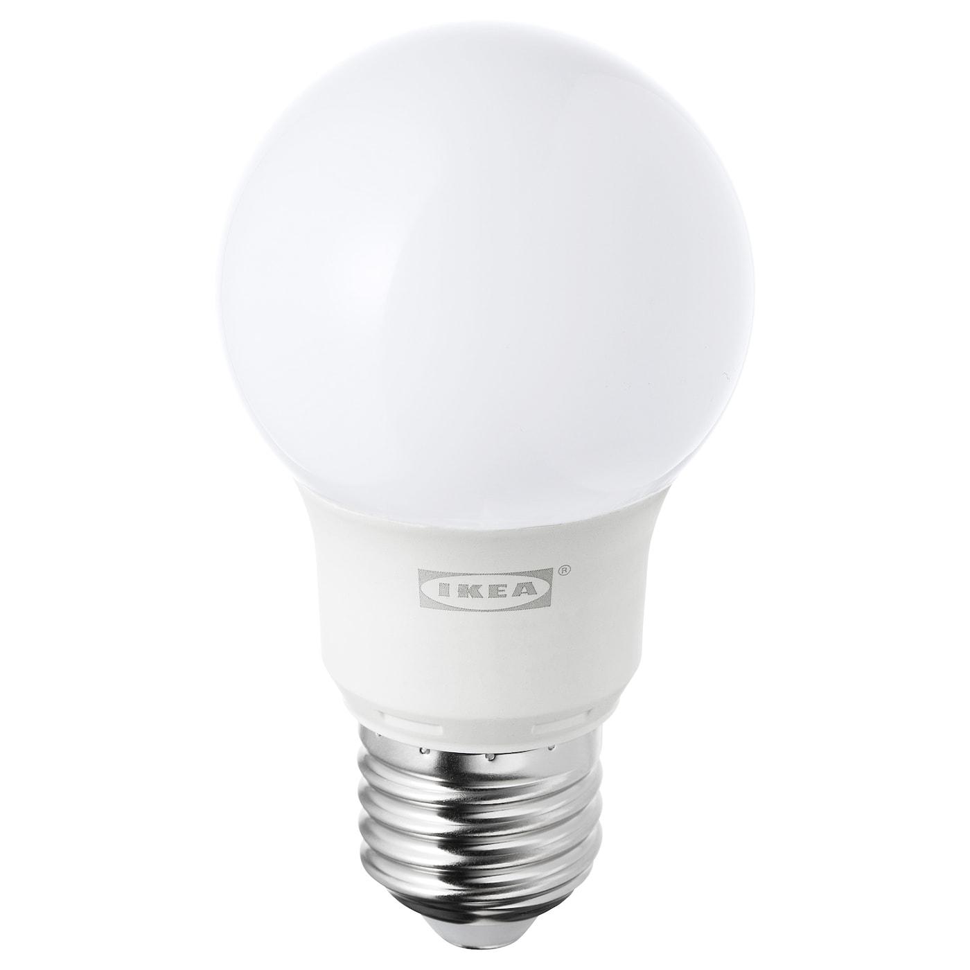 Ryet Led Bulb E27 400 Lumen Globe Opal White Ikea