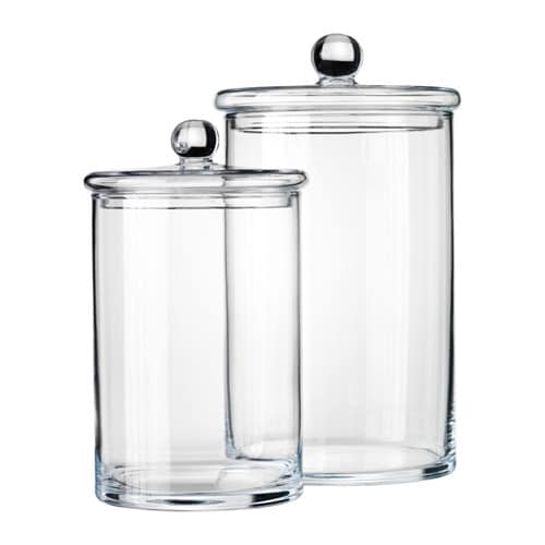RYSSBY 2014 Jar with lid, set of 2 IKEA The transparent jar makes it ...