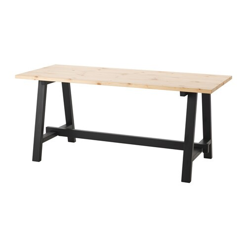 IKEA S LLSKAP Dining Table The Clear Lacquered Surface Is Easy To