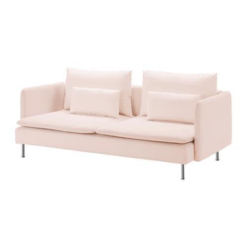 S–DERHAMN 3 seat sofa Samsta light pink IKEA