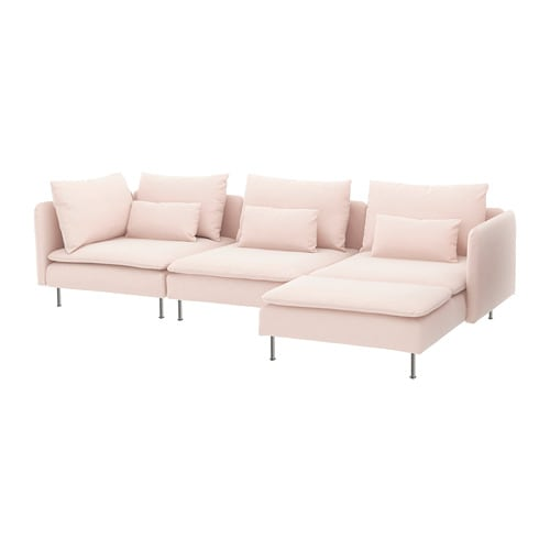 s derhamn 4 seat sofa with chaise longue samsta light pink ikea rh ikea com pink leather sofa ikea pink sofa ikea uk