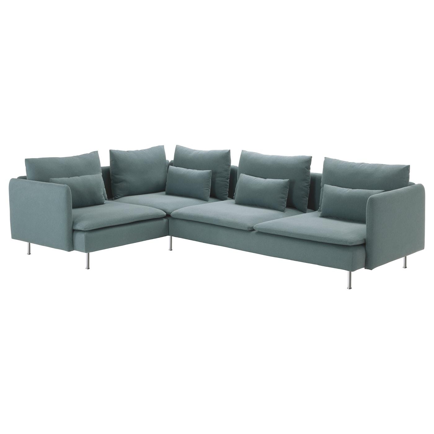 SDERHAMN Corner Sofa 21 Finnsta Turquoise 291x198 Cm IKEA