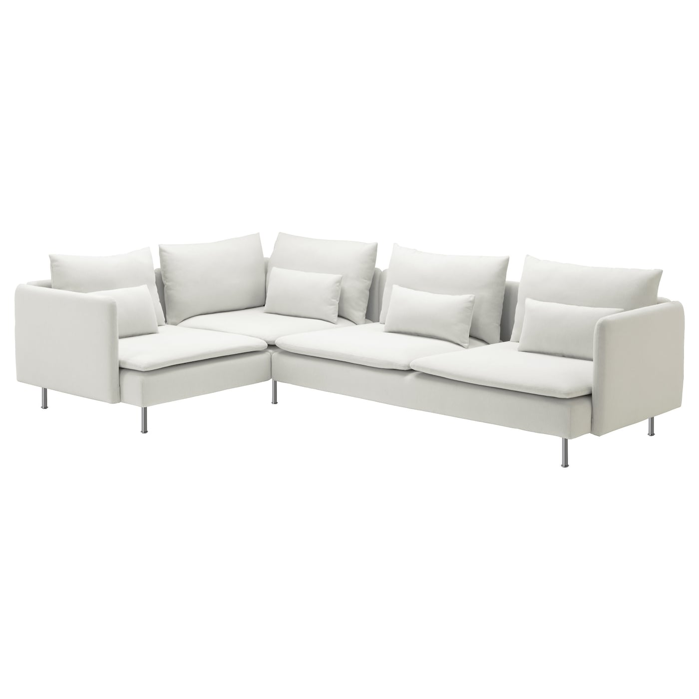 S derhamn corner sofa 2 1 finnsta white 291x198 cm ikea for White divan chair