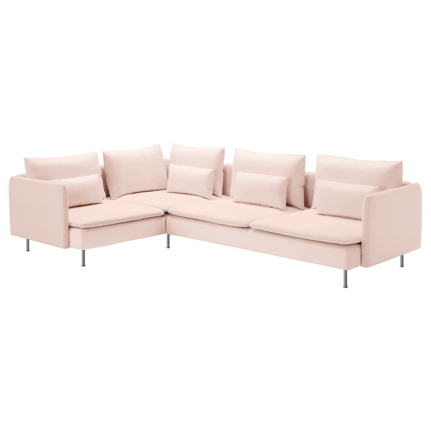 s derhamn corner sofa 2 1 samsta light pink 291x198 cm ikea. Black Bedroom Furniture Sets. Home Design Ideas