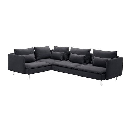 S–DERHAMN Corner sofa 4 seat Samsta dark grey 291x198 cm IKEA