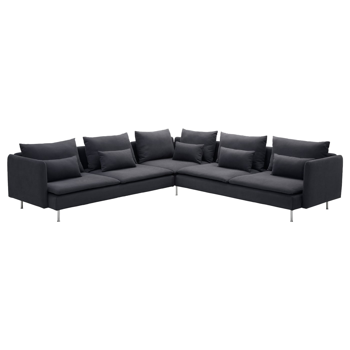 IKEA SÖDERHAMN corner sofa, 6-seat Hardwearing microfibre which is soft and smooth.