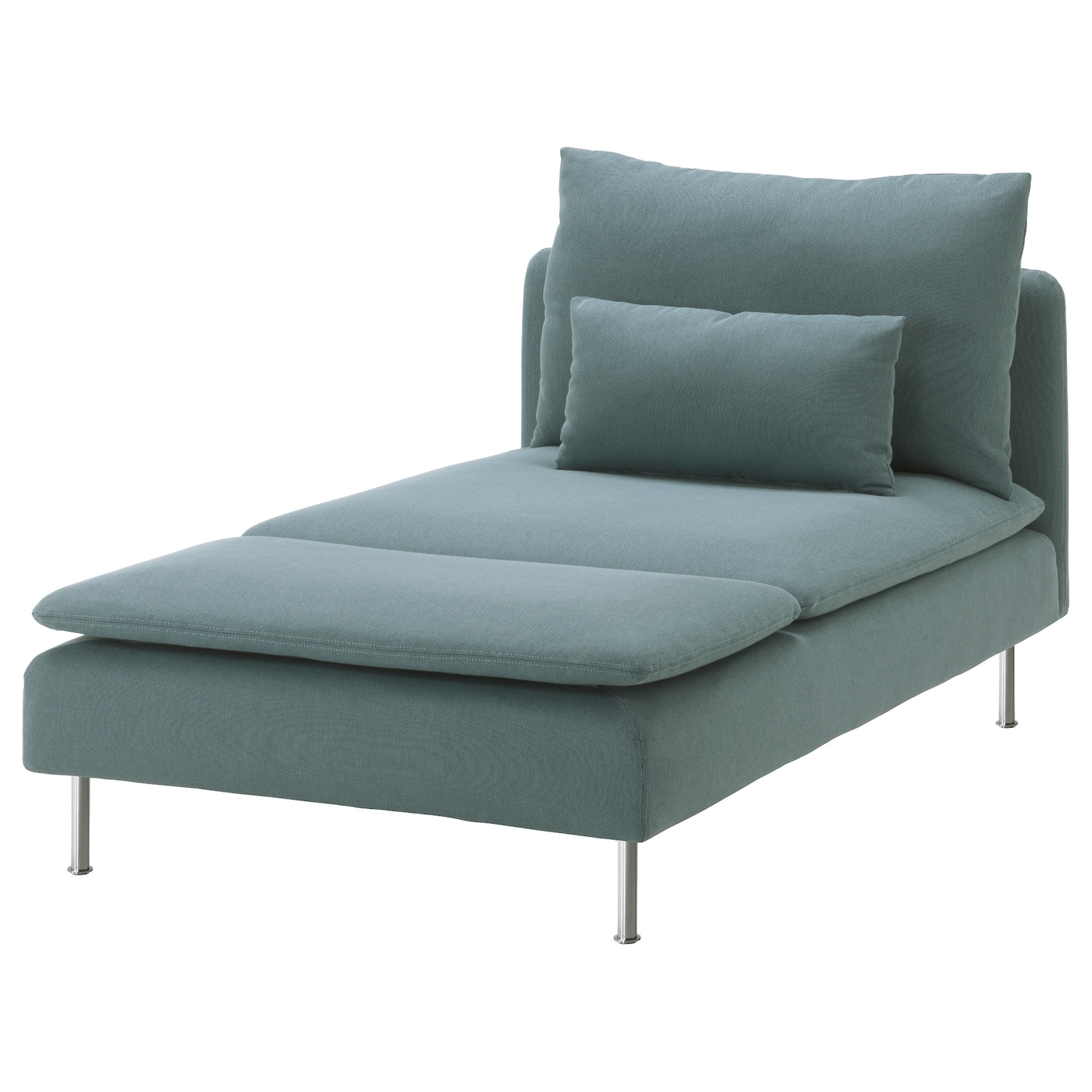 Recamiere chaiselongue  SÖDERHAMN Cover for chaise longue Finnsta turquoise - IKEA