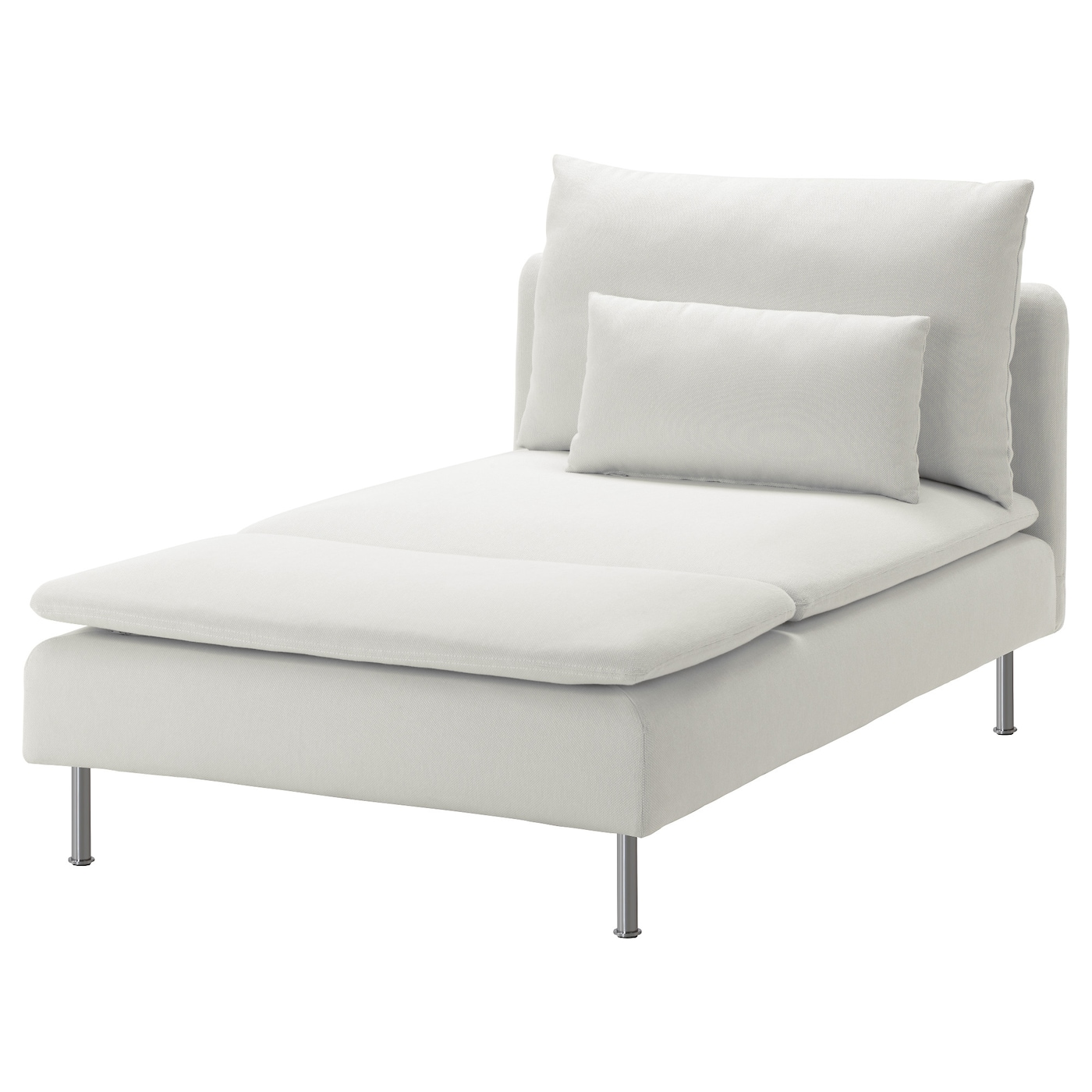 S derhamn cover for chaise longue finnsta white ikea for Chaise longue jardin ikea